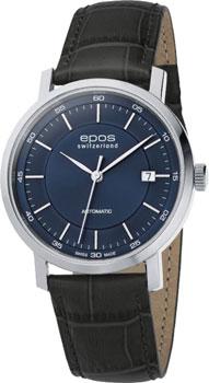 Швейцарские наручные  мужские часы Epos 3387.152.20.16.15. Коллекция Originale