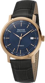 Швейцарские наручные  мужские часы Epos 3387.152.24.16.15. Коллекция Originale