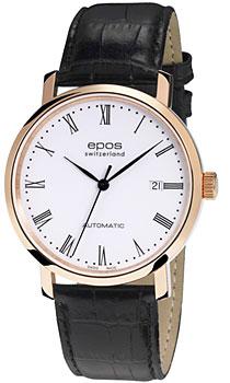 Швейцарские наручные  мужские часы Epos 3387.152.24.20.15. Коллекция Originale