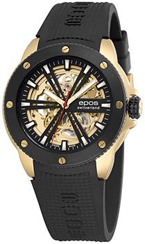 Швейцарские наручные  мужские часы Epos 3389.136.45.15.55. Коллекция Sportive