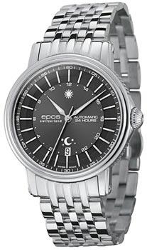 Швейцарские наручные  мужские часы Epos 3390.302.20.14.30. Коллекция Emotion