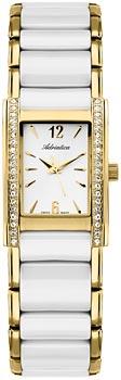 Швейцарские наручные  женские часы Adriatica 3398.D153QZ. Коллекция Ceramic