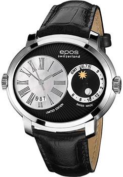 Швейцарские наручные  мужские часы Epos 3400.122.20.25.25. Коллекция Oeuvre d art