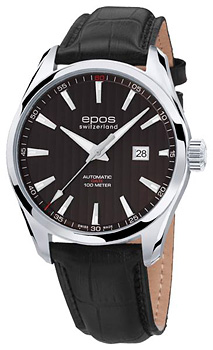 Швейцарские наручные  мужские часы Epos 3401.132.20.15.25. Коллекция Passion