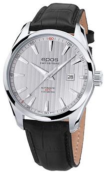 Швейцарские наручные  мужские часы Epos 3401.132.20.18.25. Коллекция Passion
