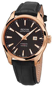 Швейцарские наручные  мужские часы Epos 3401.132.24.15.25. Коллекция Passion