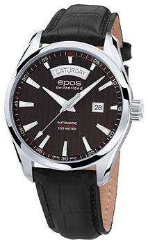 Швейцарские наручные  мужские часы Epos 3402.142.20.15.25. Коллекция Passion