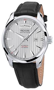 Швейцарские наручные  мужские часы Epos 3402.142.20.18.25. Коллекция Passion