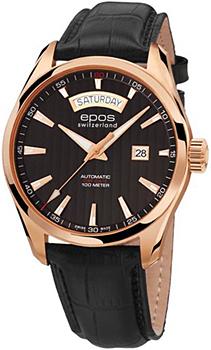 Швейцарские наручные  мужские часы Epos 3402.142.24.15.25. Коллекция Passion