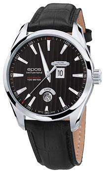 Швейцарские наручные  мужские часы Epos 3405.672.20.15.25. Коллекция Passion