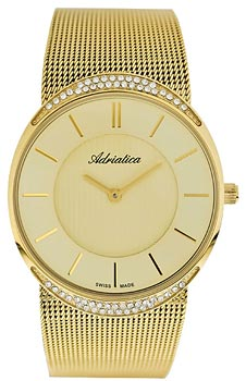 Швейцарские наручные  женские часы Adriatica 3406.1111QZ. Коллекция Ladies