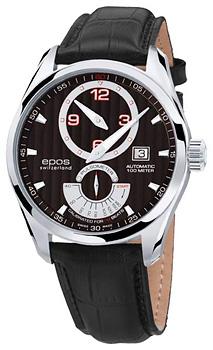 Швейцарские наручные  мужские часы Epos 3407.858.20.15.25. Коллекция Passion