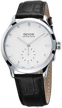 Швейцарские наручные  мужские часы Epos 3408.208.20.10.15. Коллекция Originale