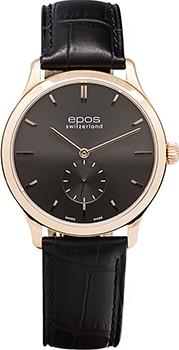 Швейцарские наручные  мужские часы Epos 3408.208.24.14.15. Коллекция Originale