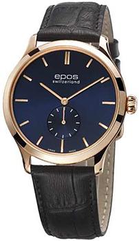 Швейцарские наручные  мужские часы Epos 3408.208.24.16.15. Коллекция Originale