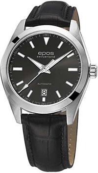 Швейцарские наручные  мужские часы Epos 3411.131.20.14.25. Коллекция Originale