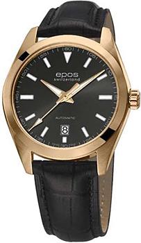 Швейцарские наручные  мужские часы Epos 3411.131.24.14.25. Коллекция Originale