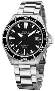 Швейцарские наручные  мужские часы Epos 3413.131.20.15.30. Коллекция Sportive