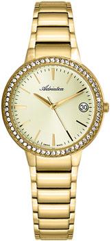 Швейцарские наручные  женские часы Adriatica 3415.1111QZ. Коллекция Zirconia