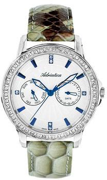 Швейцарские наручные  женские часы Adriatica 3416.52B3QFZ. Коллекция Multifunction