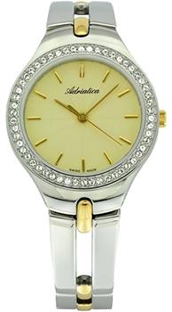 Швейцарские наручные  женские часы Adriatica 3418.2111QZ. Коллекция Zirconia