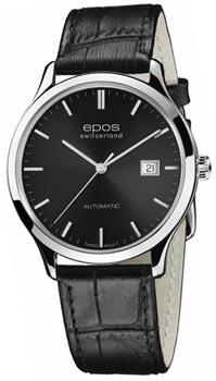 Швейцарские наручные  мужские часы Epos 3420.152.20.14.15. Коллекция Originale