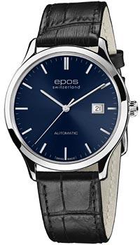 Швейцарские наручные  мужские часы Epos 3420.152.20.16.15. Коллекция Originale