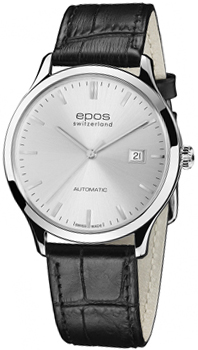 Швейцарские наручные  мужские часы Epos 3420.152.20.18.15. Коллекция Originale