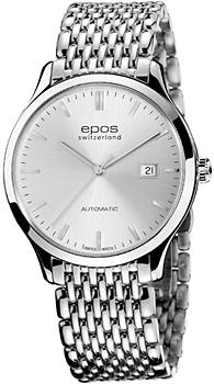 Швейцарские наручные  мужские часы Epos 3420.152.20.18.30. Коллекция Originale
