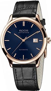 Швейцарские наручные  мужские часы Epos 3420.152.24.16.15. Коллекция Originale