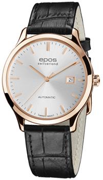 Швейцарские наручные  мужские часы Epos 3420.152.24.18.15. Коллекция Originale