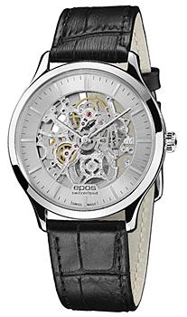 Швейцарские наручные  мужские часы Epos 3420.155.20.18.15. Коллекция Originale