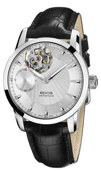 Швейцарские наручные  мужские часы Epos 3424.183.20.18.25. Коллекция Sophistiquee