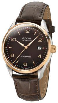 Швейцарские наручные  мужские часы Epos 3427.130.34.57.27. Коллекция Originale