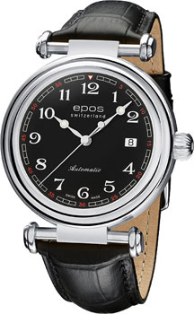Швейцарские наручные  мужские часы Epos 3430.130.20.35.25. Коллекция Originale
