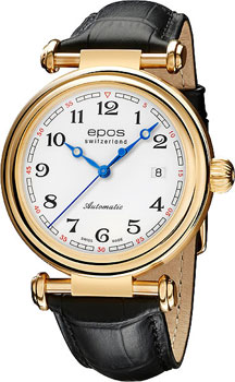 Швейцарские наручные  мужские часы Epos 3430.130.22.30.25. Коллекция Originale
