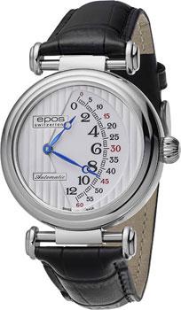 Швейцарские наручные  мужские часы Epos 3431.878.20.30.25. Коллекция Originale