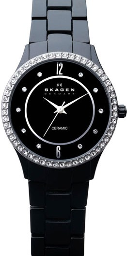 Женские наручные fashion часы в коллекции Ceramic Skagen