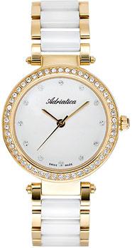 Швейцарские наручные  женские часы Adriatica 3576.D143QZ. Коллекция Ceramic