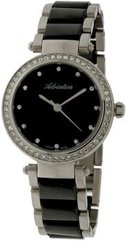 Швейцарские наручные  женские часы Adriatica 3576.E144QZ. Коллекция Ceramic