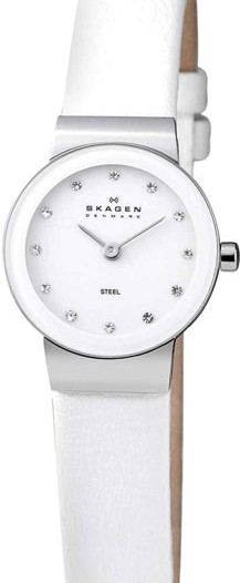 Женские наручные fashion часы в коллекции Leather Skagen