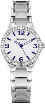 Швейцарские наручные  женские часы Adriatica 3621.51B3QZ. Коллекция Zirconia