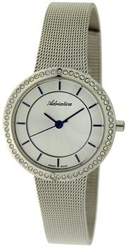 Швейцарские наручные  женские часы Adriatica 3645.51B3QZ. Коллекция Zirconia