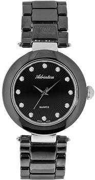 Швейцарские наручные  женские часы Adriatica 3680.E144Q. Коллекция Ceramic