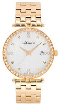 Швейцарские наручные  женские часы Adriatica 3695.1143QZ. Коллекция Zirconia
