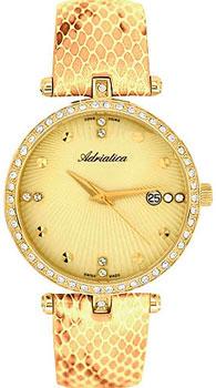 Швейцарские наручные  женские часы Adriatica 3695.1241QZ. Коллекция Zirconia