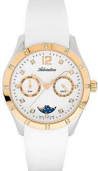 Швейцарские наручные  женские часы Adriatica 3698.2273QFZ. Коллекция Multifunction