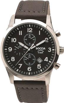 Наручные  мужские часы Boccia 3755-01. Коллекция Titanium