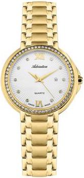 Швейцарские наручные  женские часы Adriatica 3812.1183QZ. Коллекция Zirconia