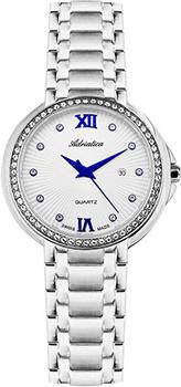 Швейцарские наручные  женские часы Adriatica 3812.51B3QZ. Коллекция Zirconia